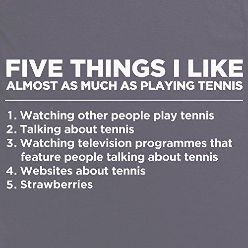 Five Things I Like - Tennis T-Shirt, Herren Anthrazit