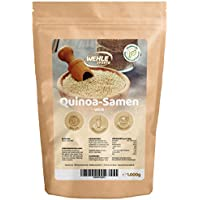 Quinoa Samen Weiß (1 kg) Wehle Sports Quinoa Premium Qualität, Vegan und hergestellt in Deutschland - 1er Pack (1000g)