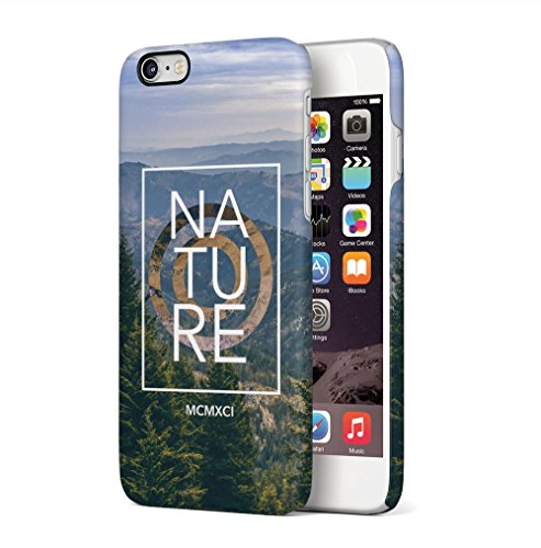Nature Hills Forest Adventure Travel Apple iPhone 6 / iPhone 6S SnapOn Hard Plastic Phone Protective Fall Handyhülle Case Cover (Apple Hill)