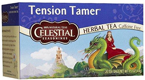 4x Celestial Seasonings Tension tamer infusion tea 20 beutel (Tension Tamer Tee)