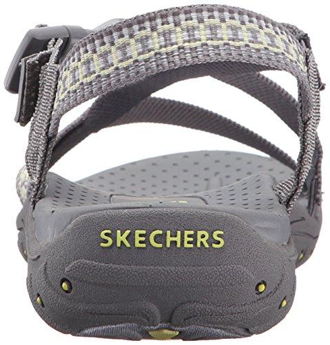 Skechers Reggae Toe Sandal Anneau Gris