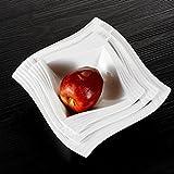 Malacasa, Serie Amparo, 3 Teiligen Set Cremeweiß Porzellan 9,25&8&6,75 Zoll Schüssel Salatschüssel Suppenschüsseln Schale