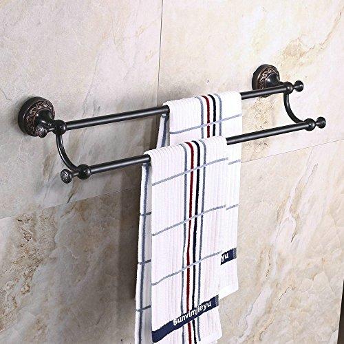 hiendurer-montado-en-la-pared-24-pulgadas-laton-doble-toallero-estante-de-toalla-negro