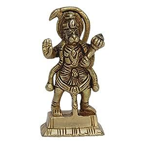 Metaldecor Small Statue Of Brass Lord Hanuman