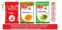 Kumar Special Chilli Powder (200 g), Turmeric Powder (200 g) & Coriander Powder (200 g) (Pack of 3)