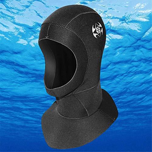 Neckip Tauchhaube 3mm Tauchmütze Wasserdicht Kälteschutz Neopren Kälteschutz Warm Bleiben Für Damen Und Herren - Schwarz Von