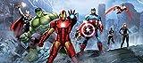 AG Design FTDh 0628  Avengers Marvel, Papier Fototapete Kinderzimmer - 202x90 cm - 1 Teil, Papier, multicolor, 0,1 x 202 x 90 cm