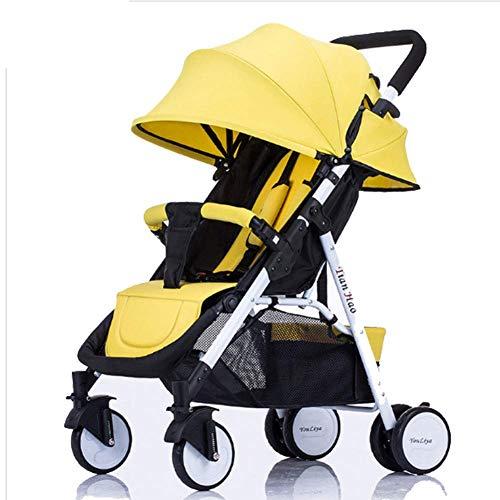 YZ-YUAN Kinderwagen, leichtes, kompaktes, neigbares Kinderwagen-System, hochklappbarer Vierraddämpfer für Neugeborene