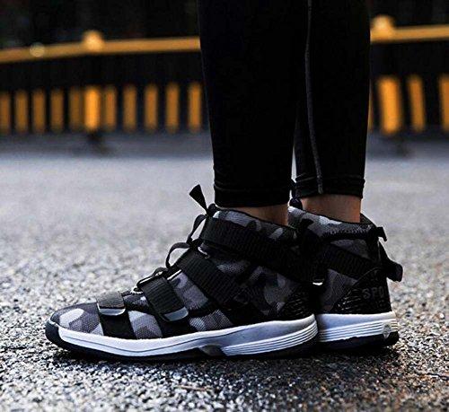 Hommes Chaussures Pu Printemps Automne Lumière Semelles Sneakers Chaussures De Marche Crochet & Boucle Pour Athlétique Gris Armée Vert Eu Taille 39-44 Gris
