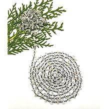 New prime offerta su 5piedi naturale cristallo quarzo 5mm pneumatico liscio in rilievo nero placcato catena Powered by gioiello perle.