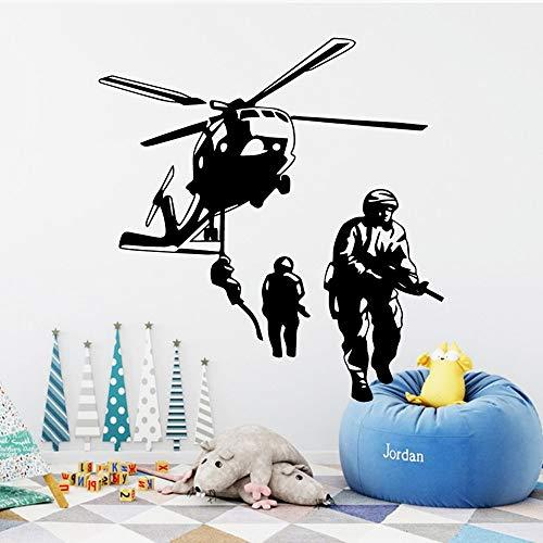 Reiche soldat krieger vinyltapete kinder jungen wohnzimmer aufkleber dekoration wandbild poster wandaufkleber M 37 cm X 41 cm schwarz