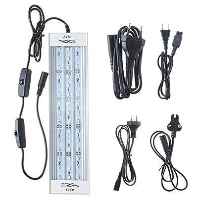 WML-LAMP Lumière d'aquarium de 15W 25CM LED 45SMD 1900LM (5 Couleurs) Lampe de Corail de réservoir de Poissons d'aquarium Aquatique de LED Aquarium