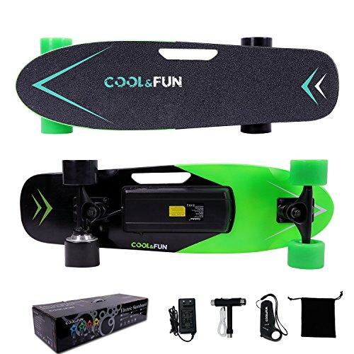 Cool & Fun Skateboard Eléctrico de 4 ruedas Monopatín con...