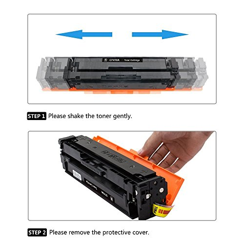 Best Saving for Airby® CF410A CF411A CF412A CF413A CF410X Toner Cartridge compatible for HP Color LaserJet Pro M452dn M452nw M452dw MFP M477fdn M477fdw M477fnw Printers (4 Pack – Black + Cyan + Yellow + Magenta) Special