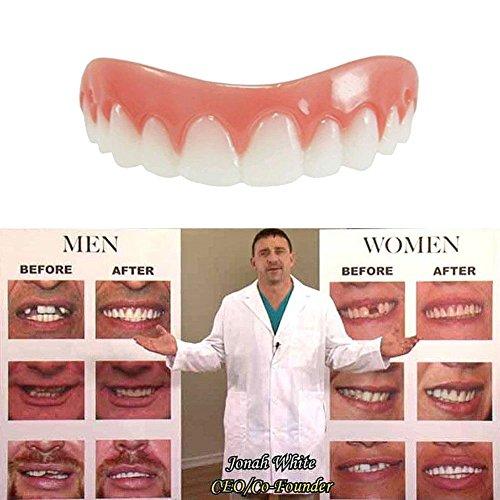 Kosmetische Zähne Zahnersatz Schöne Perfekte Lächeln Zähne Instant Smile Zahn Makeover Kleine Größe ()