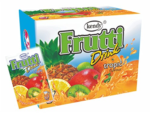 Frutti Instant Getränkepulver ohne Zucker - Geschmackrichtung: Tropic Tropische Früchte 12er Packung