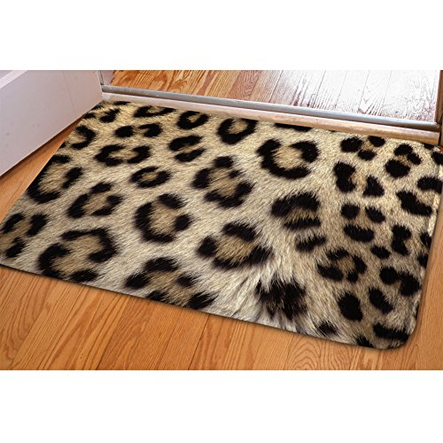Coloranimal Funny 3D Animal Leopardo impresión Felpudo Home al Aire Libre Alfombra de Suelo para Interiores