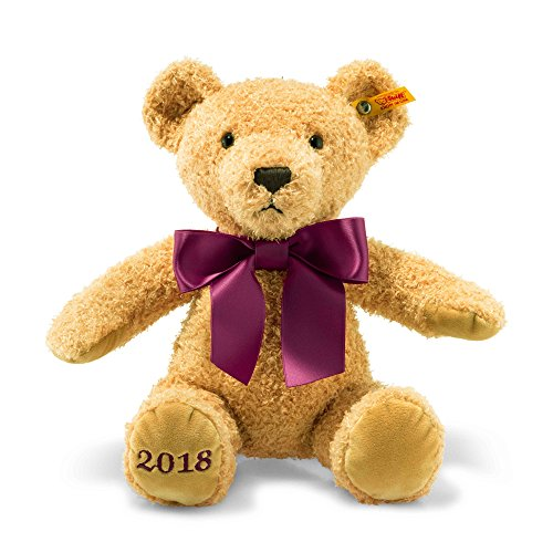 Steiff-113321-2018-Cosy-Year-Bear-Toy-Golden-Brown