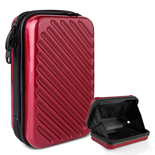 Ctbd Festplattenlaufwerk Tasche Kompakt Schutzhülle Reise Lagerung Tragetasche Tasche Tasche für Handy iPad Zubehör USB Kabel Strom Banken Festplatte 2.5