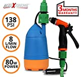 #6: AllExtreme 12V Car Wash Self-priming Car Wash High Pressure Electric Washing Machine Cleaning Electric Pump Pressure Washer Device Tool Water Pump Washing Machine Kit With Car Cigarette Lighter