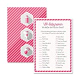 Babyparty Baby Shower Spiel-Set 8 Stück VIP-Babynamen mädchen rosa Partyspiel Quiz Spiel Deko Party Karte Geschenk Spielkarte Artikel von Mia-Félice Decorations