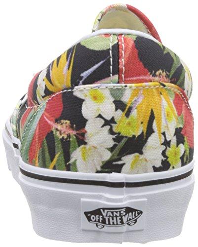 Vans Unisex-Erwachsene Classic Slip-On Sneaker Mehrfarbig (digi Aloha/black/true White)
