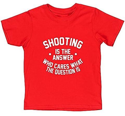 HippoWarehouse - T-shirt - Fille - rouge - 8 ans