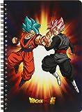 Clairefontaine 812771C - Un Cahier à spirale Dragon Ball Super 100 pages 14,8x21 cm 90g lignées, couverture visuel aléatoire