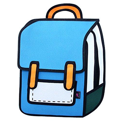 dewang-3d-2d-cartoon-comic-schule-tasche-travel-buch-tasche-laptop-rucksack-canvas-rucksack-blau