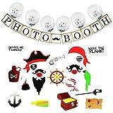 Kit per proiettori di corredo della foto del pirata per i giocattoli del vestito dei ragazzi del compleanno di compleanno dei bambini