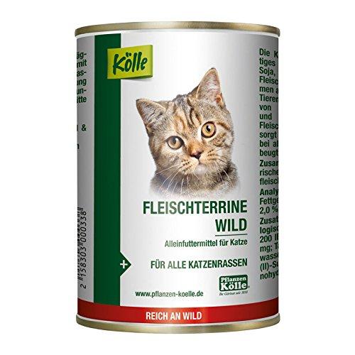 Kölle Nassfutter für Katzen Fleischterrine Wild, 400 g