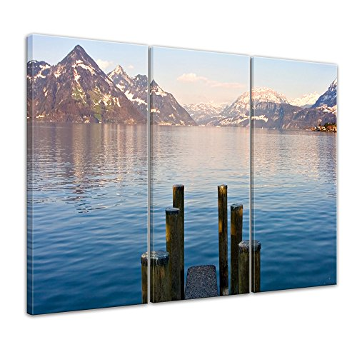 bilderdepot24-cuadros-en-lienzo-steg-ii-120-x-80-cm-3-piezas-listo-tensa-directamente-desde-el-fabri