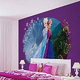 Disney Frozen Eiskönigin Elsa Anna - Wallsticker Warehouse - Fototapete - Tapete - Fotomural - Mural Wandbild - (834WM) - XXL - 312cm x 219cm - VLIES (EasyInstall) - 3 Pieces