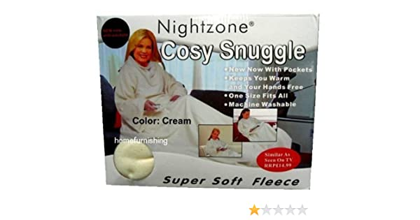 NEW CUDDLE SOFT FLEECE SNUG BLANKET SLEEVES SNUGGLE COSY RUG WRAP WITH POCKETS