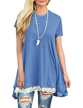 Angashion Camisas - Para Mujer