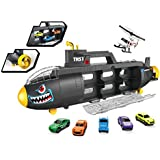 Toys Bhoomi Toys Submarine Transport Truck - Includes 5 Cars & 1 Helicopter Toy - Multi Color