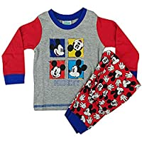 Baby Boys Disney Mickey Mouse Selfie Pyjamas Cotton 6 Months to 24 Months