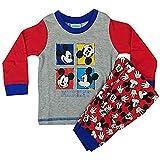 Disney - Pijama Entero - Manga Larga - para bebé niño Azul Mickey -...