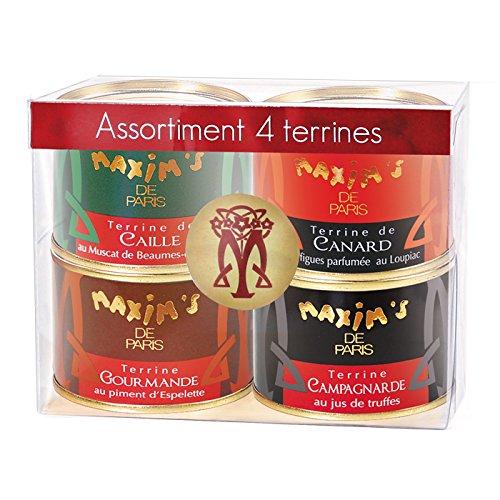 Gourmet-Geschenk: Set von 4 köstlichen Pasteten und Terrinen aus Frankreich (4x65g)