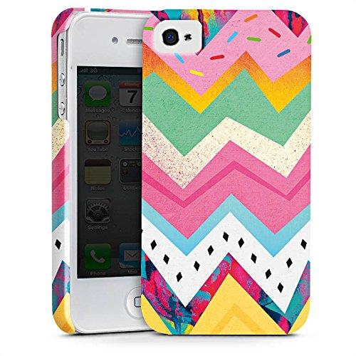 Apple iPhone X Silikon Hülle Case Schutzhülle Muster Zickzack Eis Premium Case glänzend