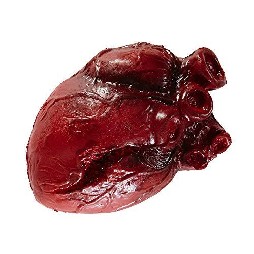 Toten Traditionen Tag Der Kostüm - Widmann 00468 blutiges Herz, unisex-adult, 14 cm
