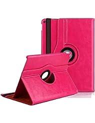 Hülle für iPad mini4,elecfan® Deluxe 360 ° PU Imitation Leather Tasche Multi Angle Stand Schutzhülle Case mit Smart Cover Auto Sleep Wake up für Apple iPad Mini 4 (iPad Mini 4, Rosa)