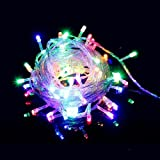 Indoor Fairy Lights with 300 Multicolour LEDs on 30M of Clear Cable by Noza Tec for Christmas Xmas Wedding Party Home Decoration Fairy Lights Wedding Party Home Garden Decorations
