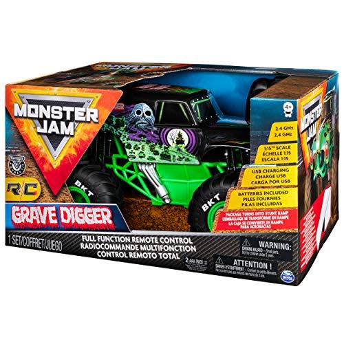 Monster Jam 6045003 6045003-RC Grave Digger Truck 1:15, ferngesteuert, Multicolour - Jam-trucks Rc Monster