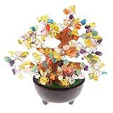 MagiDeal Bonsai-Art-Kristallbaum Glück Symbol Liebe Dekoration Kristallbaum-Mittelstück - # 1