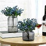 SUMISURER 6Pcs Décoration de Mariage Fleurs Artificielles Décoration Plantes artificielles Blueberry