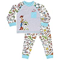 Disney Toy Story 4 Boys Pyjamas with Woody, Buzz Lightyear and Forky | 100% Cotton Kids Nightwear, | PJ Set with Long Sleeve Top and Full Leggings | Great PJ for Children, Toddlers