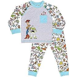 Disney Pijamas para Niños De Toy Story 4! | Ropa Suave Y Cómoda para Dormir De Niño Y Niña | Pijamas De Manga Larga Pixar | ¡ con Woody, Buzz Lightyear y Forky! (18/24 Meses)