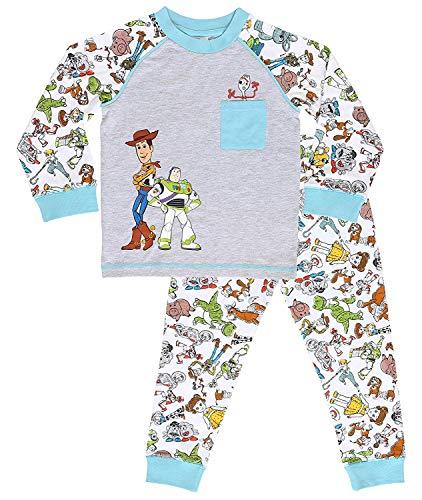 Disney Pyjama Garçons Toy Story 4 avec Woody, Buzz l'Éclair Et Forky | Vêtements De Nuit pour Enfants 100% Coton | Ensemble Pyjama Manches Longues Et Leggings | Idée Cadeau Bébé (3/4 Ans)