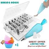 40 Pièces / Ensembles Inox Buses pour pâte Buses Tubes Boîtier Outils de cuisine Gâteaux Décorations Accessoires de cuisine